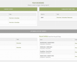 Screen shot of the reports dashboard in4med