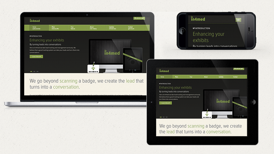 in4med new web design